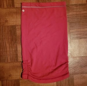 Coral Lulu Lemon Reversable Tube Top Fitted